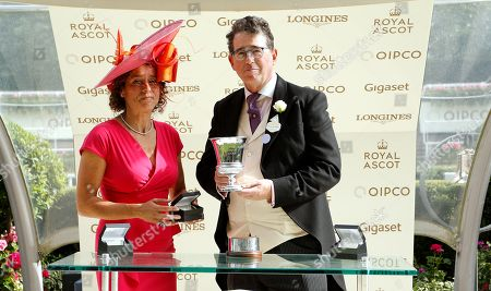 Stock Picture of Presentation by Alex Polizzi to Lord Grimthorpe for The Jersey Stakes won by EXPERT EYE Royal Ascot