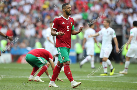Medhi Benatia in action during the Fifa World Cup Russia 2018, Group B, football match between Portugal v Morocco