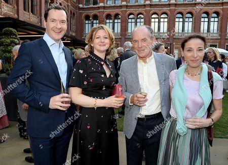 George Osborne, Frances Osborne, Simon Jenkins and Hannah Kaye