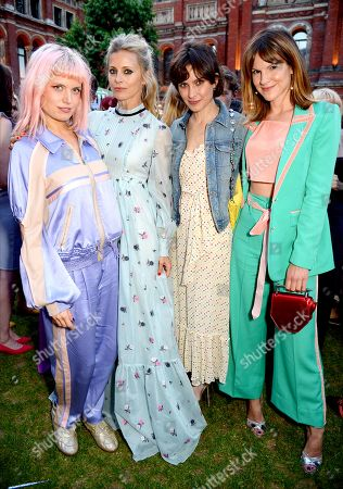 DJ Henri, Laura Bailey, Sheherazade Goldsmith and Fuchsia Sumner
