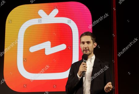 Stock Picture of Kevin Systrom, CEO and co-founder of Instagram, prepares for Wednesday's announcement about IGTV in San Francisco. Facebook's Instagram app is loosening its restraints on video with a new channel that will attempt to lure younger viewers away from Google's YouTube and pave the way to sell more advertising