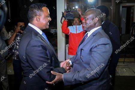 Riek Machar and Workneh Gebeyehu