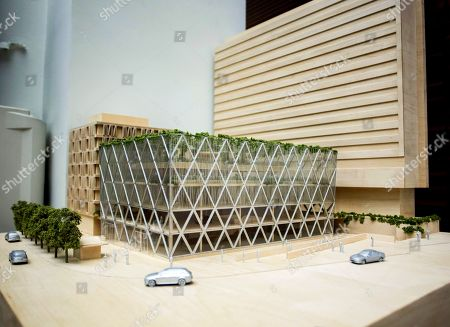 Architects model of proposed construction