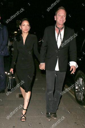 Stock Photo of Kiefer Sutherland and Cindy Vela