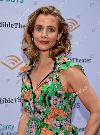 """Lisa Dwan attends the opening night of """"Girls & Boys"""" at the Minetta Lane Theatre, in New York"""