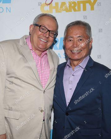 Stock Photo of Brad Altman and George Takei