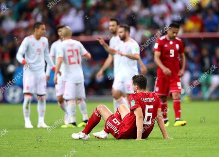 Saeid Ezatolahi (IRN) looks dejected