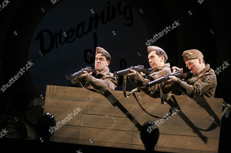 Stock Picture of l-r: William Findley (Goldsmith), Sholto Morgan (Spike), David Morley Hale (Kidgell)