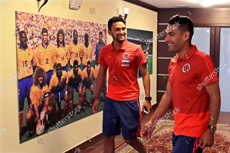 Radamel Falcao and Abel Aguilar