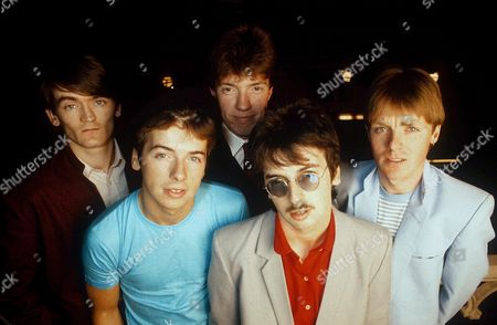 Stock Photo of The Undertones - Feargal Sharkey, John O'Neill, Damian O'Neill Michael Bradley and Billy Doherty