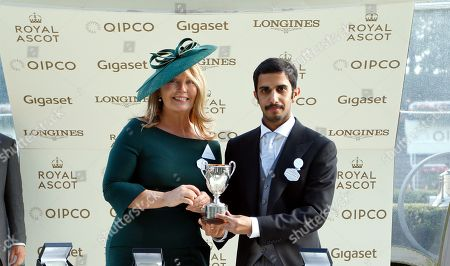 Presentation by Kirsty Young to Mohammed Al Attiya for The King George V Stakes won by BAGHDAD Royal Ascot