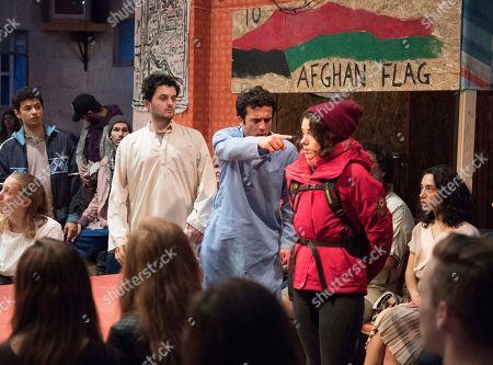 Elham Ehsas as Maz, Mohammad Amiri as Norullah, Rachel Redford as Beth