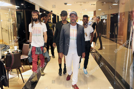 Stock Image of Designer/Celebrity Stylist Ty Hunter (Native Son Style Maker), Designer/DJ Jerome Lamaar (Native Son Style Maker), Emil Wilbekin, Founder Native Son and Yashua Simmons Style Editor, Hearst Publications