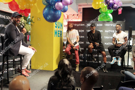 Stock Photo of Emil Wilbekin, Founder Native Son, Designer/Celebrity Stylist Ty Hunter (Native Son Style Maker), Designer/DJ Jerome Lamaar (Native Son Style Maker) and Yashua Simmons Style Editor, Hearst Publications (Native Son Style Maker)