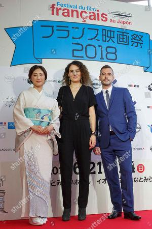 Japanese actress and Festival Muse Takako Tokiwa, director Caroline Fargeat and actor Xavier Legrand