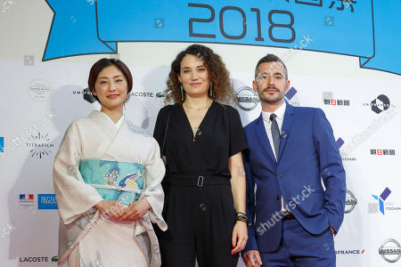Japanese actress and Festival Muse Takako Tokiwa, director Caroline Fargeat and actor Xavier Legrand