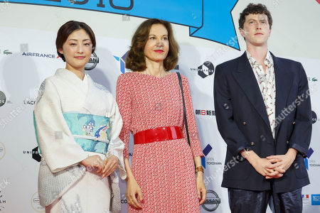 Japanese actress and Festival Muse Takako Tokiwa, director Anne Fontaine and actor Finnegan Oldfield