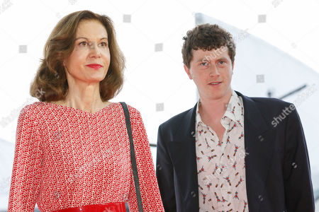Stock Photo of French director Anne Fontaine and actor Finnegan Oldfield