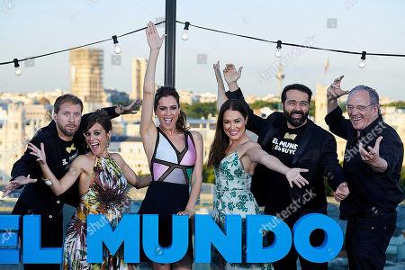 Stock Picture of Alfonso Sanchez, Alberto Lopez, Mar Saura, Carlos Olalla, Eva Marciel and Carmen Canivell