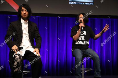 Takumi Saito and comedian Nagano
