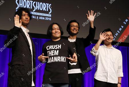 Takumi Saito, comedian Nagano, musician and actor Nobuaki Kaneko and film director Yasuhiko Shimizu