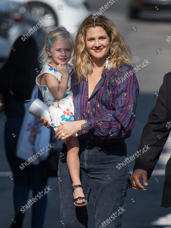 Stock Picture of Drew Barrymore and daughter Frankie Barrymore Kopelman