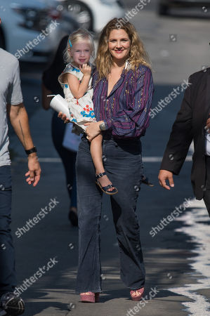 Stock Photo of Drew Barrymore and daughter Frankie Barrymore Kopelman