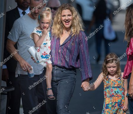 Drew Barrymore and daughters Olive Barrymore Kopelman and Frankie Barrymore Kopelman