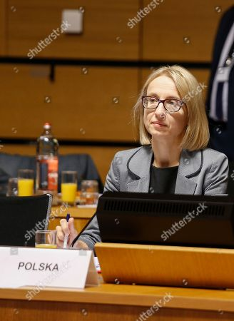 Polish Finance Minister, Teresa Czerwinska during the Ecofin Finance Ministers meeting in Luxembourg, 22 June 2018.
