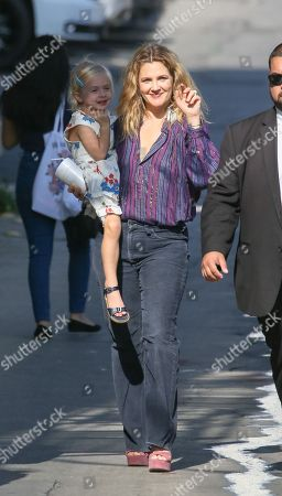 Stock Image of Drew Barrymore with daughter Frankie Barrymore Kopelman