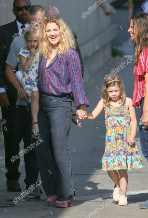 Drew Barrymore with daughters Olive Barrymore Kopelman and Frankie Barrymore Kopelman