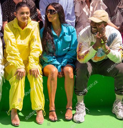 Kylie Jenner, Kim Kardashian and Kanye West