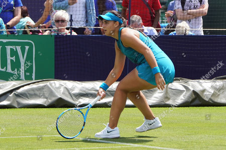 Taylor Townsend (USA) Vs Ana Konjuh (Cro) at the Nature Valley International at Devonshire Park, Eastbourne. Picture by Jonathan Dunville