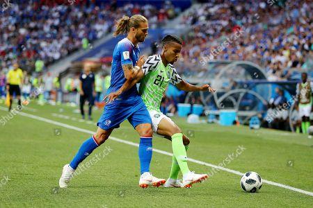Rurik Gislason of Iceland and Tyronne Ebuehi of Nigeria