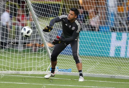 Mexico goalkepeer Alfredo Talavera during a training session in Rostov-on-Don, Russia 22 June 2018. Korea Republic will play Mexico in their FIFA World Cup 2018 Group F match 23 June 2018.
