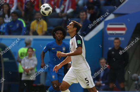 Celso Borges in action during the Fifa World Cup Russia 2018, Group E, football match between Brazil v Costa Rica in Saint Petersburg Stadium.