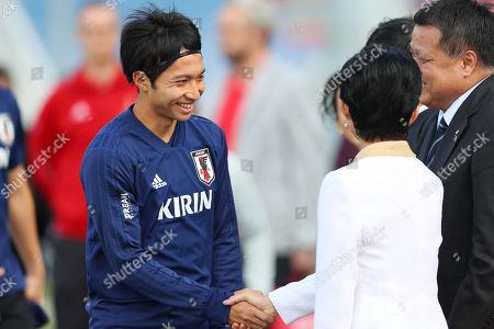 (L-R) Gaku Shibasaki (JPN), Princess Hisako Takamado