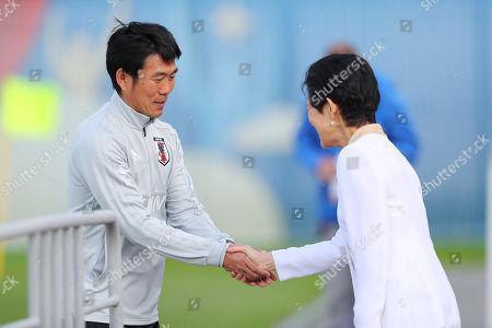 (L-R) Â? Hajime Moriyasu (JPN), Princess Hisako Takamado