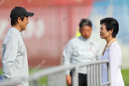 -R) Akira Nishino (JPN), Princess Hisako Takamado