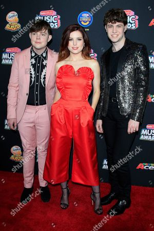 (L-R) Jamie Sierota, Sydney Sierota and Noah Sierota of Echosmith arrive for the 2018 Radio Disney Music Awards at the Loews Hotel in Hollywood, Los Angeles, California, USA, 22 June 2018. The '2018 Radio Disney Music Awards' airs on 23 June on Disney Channel, as well as multiple Disney-branded platforms.