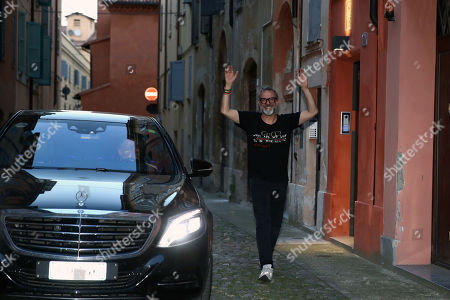 Chef Massimo Bottura coming back from Bilbao where at the World's 50 Best Restaurants 2018 the restaurant Osteria Francescana was elected for the second time Best restaurant in the world