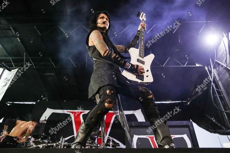 Stock Picture of Black Veil Brides, Ashley Purdy