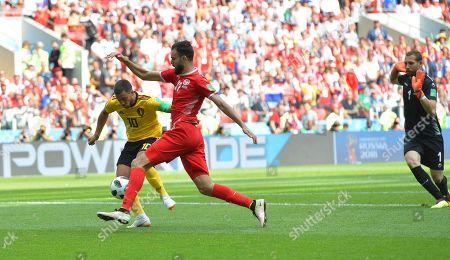 Eden Hazard, Farouk Ben Mustapha and Hamdi Nagguez