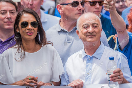 The march is led by Tony Robinson, Gina Miller (both pictured), Vince Cable and Anna Soubry amongst others - People's March for a People's Vote on the final Brexit deal. Timed to coincide with the second anniversary of the 2016 referendum it is organised by anti Brexit, pro EU campaigners.