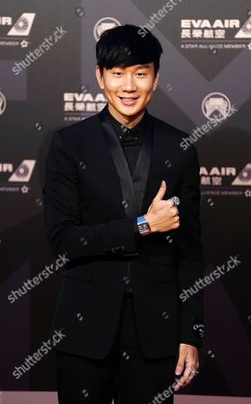 Singapore singer JJ Lin arrives at the 29th Golden Melody Awards in Taipei, Taiwan, . Lin is nominated as Best Male Mandarin Singer for his self-titled album ''Message in a Bottle'' at this year's Golden Melody Awards, one of the world's biggest Chinese-language pop music annual events