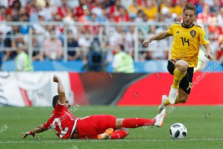 Editorial image of Russia Soccer WCup Belgium Tunisia, Moscow, Russian Federation - 23 Jun 2018