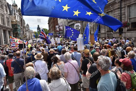 Editorial image of March for a People's Vote, London, UK. - 23 Jun 2018.