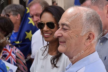 Gina Miller, Tony Robinson. Thousands attend the March for a People's Vote on the Brexit deal.