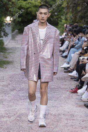 Editorial image of Sean Suen show, Runway, Spring Summer 2019, Paris Fashion Week Men's, France - 22 Jun 2018