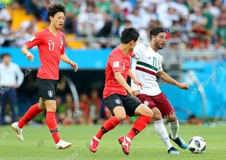 Carlos Vela, Lee Jae-sung and Ju Se-jong